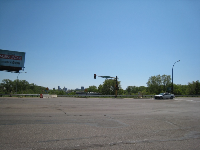 We're getting closer to civilizaton...a distance view of St. Paul