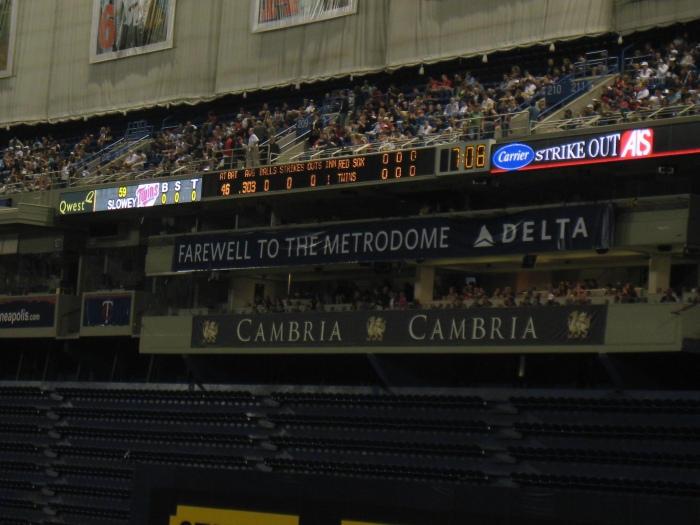 Saying Goodbye to the Metrodome