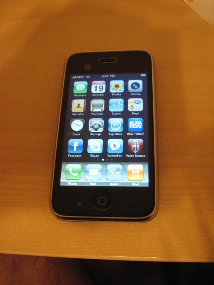 iPhone 3G running OS 3.0